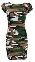Style Fashion-women Leopard Skull Rose Zebra Camouflage Print Cap Sleeve Bodycon Dress