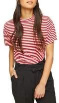 Miss Selfridge Short-Sleeve Funnel Neck Tee