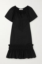 See by Chloe Ruffled Tiered Cotton-poplin Mini Dress