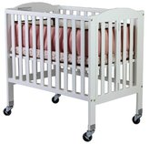 Dream On Me 2 in 1 Folding Birch Portable Crib