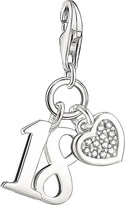 Thomas Sabo Lucky number 18 sterling silver and diamond charm