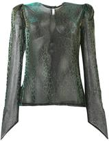Natasha Zinko gold-tone detailing sheer blouse