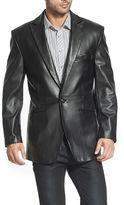 BGSD Men's Judd One-Button Lambskin Leather Blazer - Big and Tall