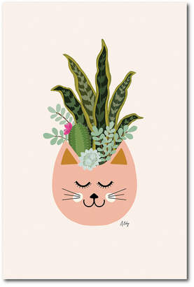 Courtside Market Wall Decor Courtside Market Cats And Plants Gallery-Wrapped Canvas Wall Art