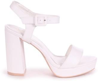 Barely There Linzi ARETHA - White Nappa Platform Heel