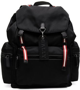Bally Crewt striped-embellished backpack