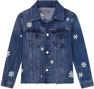 DL1961 Girl's Manning Floral-Embroidered Denim Jacket, Size S-L