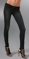 James Zipper Skinny Jeans
