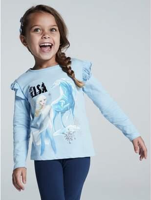 M&Co Disney Frozen 2 two way sequin t-shirt (2-8yrs)