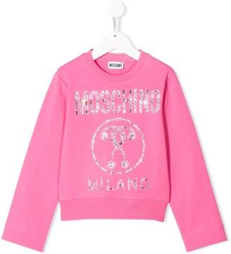 MOSCHINO BAMBINO Printed Logo Sweatshirt