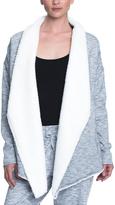 Gaiam Asphalt Heather Sia Sherpa Wrap Top - Women