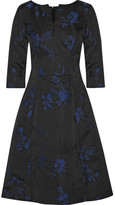 Oscar de la Renta Floral-jacquard Dress - Black