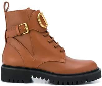 Valentino Garavani Go Logo leather boots