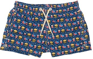 MC2 Saint Barth Hamburger Recycled Fiber Swim Shorts