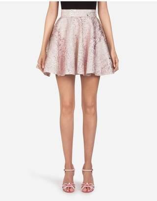 Dolce & Gabbana Short Circle Skirt In Jacquard