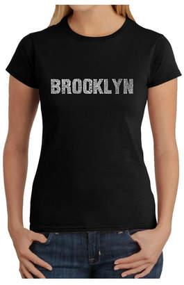 Women Word Art T-Shirt - Brooklyn Neighborhoods