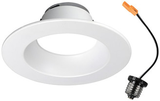 "NICOR Lighting 5/6"" White 800 Lumen Recessed LED Downlight, 2700K (DLR565081202KWH)"