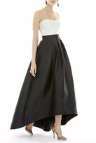 Alfred Sung Strapless High Low Dress