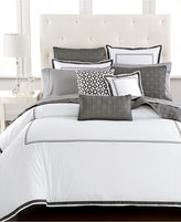 Hotel Collection Embroidered Frame Twin Duvet Cover