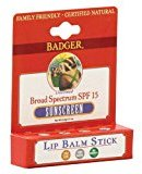 Badger Broad Spectrum Sunscreen Lip Balm Stick - SPF 15 - .15 oz