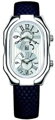 Philip Stein Teslar 12-vw-mmnUnisex WatchAnalogue QuartzWhite DialBlack Leather Strap