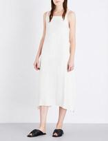 Helmut Lang Apron strap-detailed woven dress