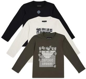 Emporio Armani Kids Set of 3 Logo T-Shirts (4-16 Years)