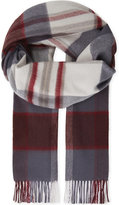 Johnstons Oversized check-print cashmere scarf