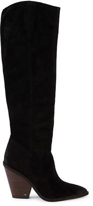 Sam Edelman Indigo Suede Knee-High Boots
