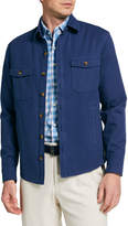 Peter Millar Men's Calvary Twill Shirt Jacket