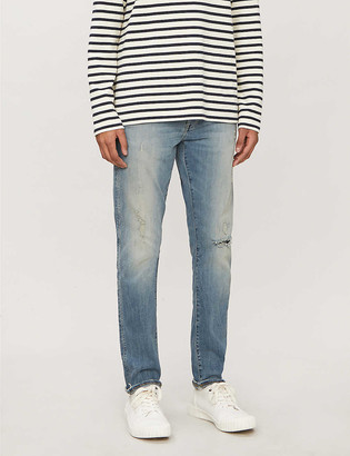 G Star 3301 Slim faded slim-fit jeans
