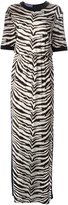 Ungaro contrast zebra print dress