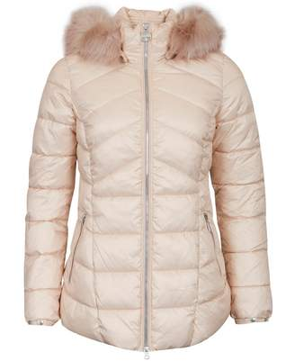 Barbour International Hampton Fur Trim Hooded Quilted Jacket Colour: O