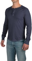 Specially made Three-Button Henley Shirt - Long Sleeve (For Men)