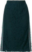 Steffen Schraut side-stripe lace skirt