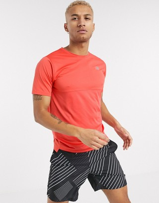 New Balance Running accelerate logo t-shirt in red