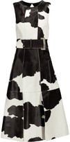 Proenza Schouler Belted calf hair and leather dress