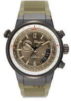 Salvatore Ferragamo Stainless Steel Chronograph Strap Watch