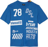 Diesel Printed cotton T-shirt 6-16 years