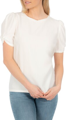 KUT from the Kloth Puff Twist Sleeve Blouse