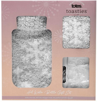 totes Mini Hot Water Bottle and Socks Set