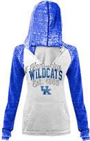 New Era Women's Kentucky Wildcats College Burnout Raglan Pullover Hoodie