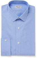 Charvet Blue Striped Cotton-Poplin Shirt