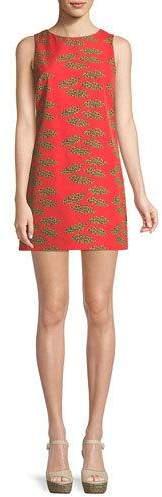 Alice + Olivia Clyde Cheetah Lips Mini Dress