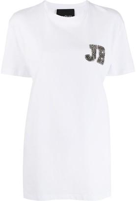 John Richmond Chipindo rhinestone-logo T-shirt