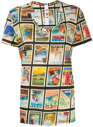 Dolce Vita print U-neck T-shirt