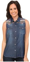 Roper 9751 5 Oz Denim Sleeveless Shirt