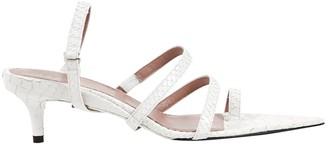 Fenty White Leather Sandals