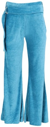 Velours Flared Trousers Made From Recycled Fibres | Bright Blue