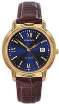 Sekonda Men's Brown Leather Strap Watch